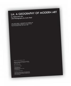 Front cover of 'LA: A GEOGRAPHY OF MODERN ART' publication by Aleksandra Mir