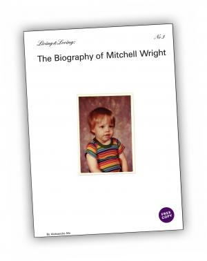 Front cover of 'Living & Loving #3—The Biography of Mitchell Wright' publication by Aleksandra Mir