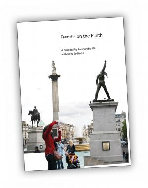 Front cover of 'Freddie on the Plinth' publication by Aleksandra Mir