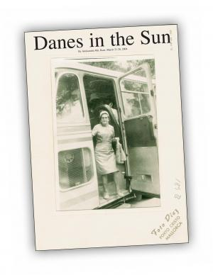 Front cover of 'Danes in The Sun' publication by Aleksandra Mir
