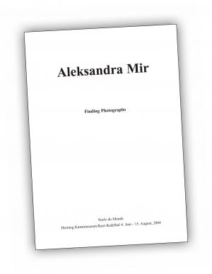 Front cover of 'Finding Photographs' publication by Aleksandra Mir