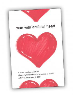 Front cover of 'Man with Artificial Heart' publication by Aleksandra Mir
