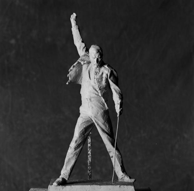 'Freddie on the Plinth - Picture Show' by Aleksandra Mir